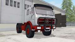 Mercedes-Benz NG 1632 with tipper trailer para Farming Simulator 2017