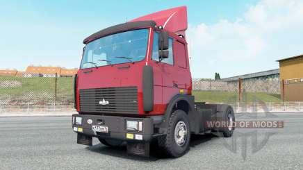 MAZ-54323 color rojo brillante para Euro Truck Simulator 2