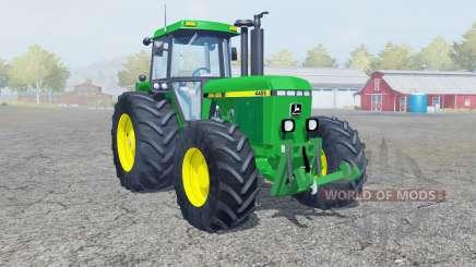 John Deere 4455 dark pastel green para Farming Simulator 2013