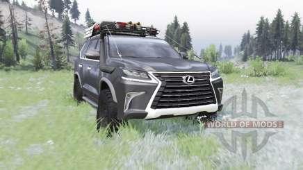 Lexus LX 570 (URJ200) 2016 off-road para Spin Tires