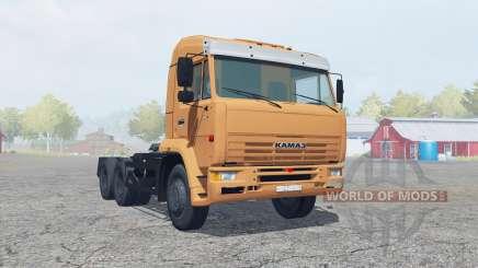 KamAZ-6460 suave color naranja para Farming Simulator 2013