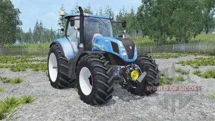 New Holland T7.240 animated cabin para Farming Simulator 2015