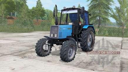 MTZ-892 Belarús eléctrica de color azul para Farming Simulator 2017