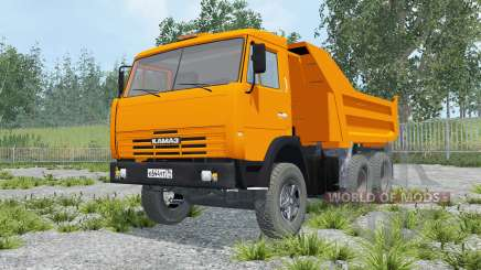 KamAZ 55111 color naranja para Farming Simulator 2015