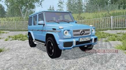 Mercedes-Benz G 65 AMG (W463) process cyan para Farming Simulator 2015
