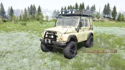 UAZ-469 suave de color amarillo para MudRunner