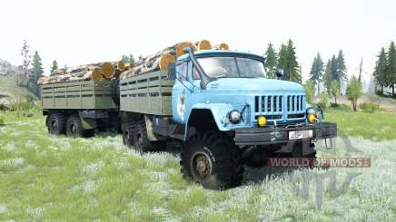ZIL-131 es un suave color azul para MudRunner