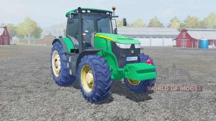 John Deere 7280R caribbean green para Farming Simulator 2013