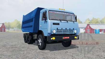 KamAZ 55111 moderadamente color azul para Farming Simulator 2013
