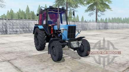 MTZ-82 Belarús color azul para Farming Simulator 2017