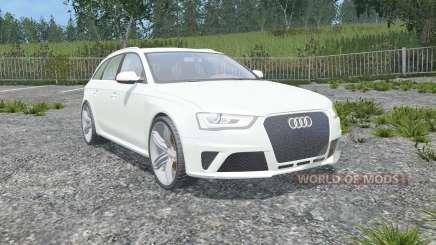 Audi RS 4 Avant (B8) 2012 gainsboro para Farming Simulator 2015