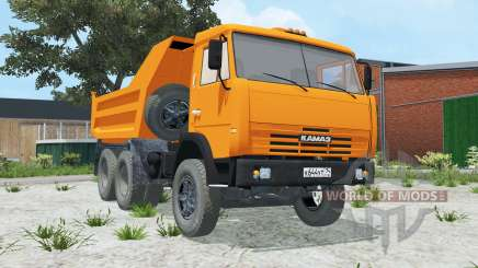 KamAZ 55111 color naranja brillante para Farming Simulator 2015