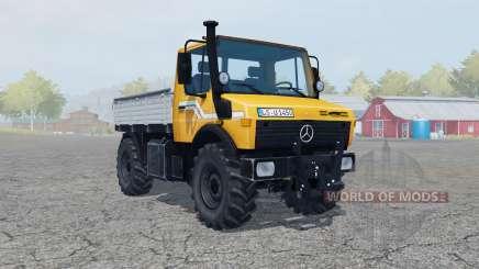 Mercedes-Benz Unimog U1450 (Br.427) vivid orange para Farming Simulator 2013