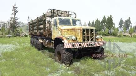 El KrAZ-255B 8x8 para MudRunner