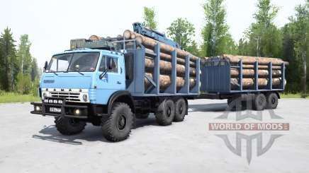 KamAZ-4310 suavemente de color azul para MudRunner
