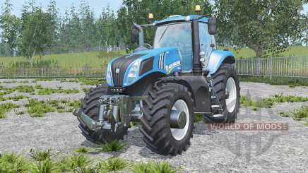 New Holland T8.320 real engine para Farming Simulator 2015