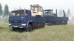 KamAZ-6522 color azul profundo para Spin Tires