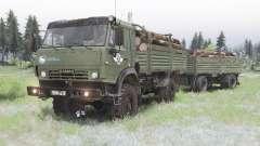 KamAZ 4350 camo-color verde para Spin Tires