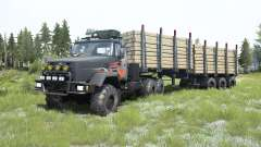 KrAZ-6322 gris oscuro para MudRunner