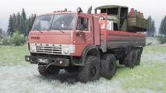 KamAZ-63501 moderadamente color rojo para Spin Tires