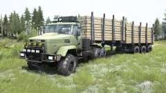 KrAZ-6322 de color verde grisáceo color para MudRunner
