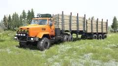 KrAZ-6322 color naranja brillante para MudRunner