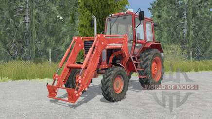 MTZ-82 Belarús tractor cargador frontal para Farming Simulator 2015