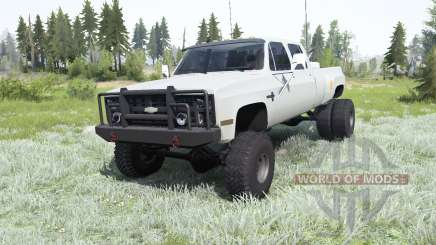 Chevrolet K30 Crew Cab Dually 1986 para MudRunner