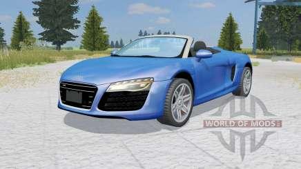 Audi R8 V10 Spyder ocean boat blue para Farming Simulator 2015
