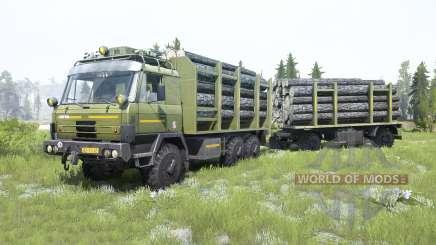 Tatra T815 VVN 20.235 6x6 moss green para MudRunner
