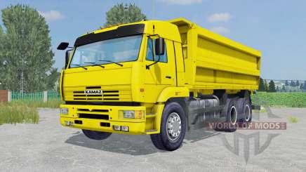 KamAZ-45143 color amarillo para Farming Simulator 2015