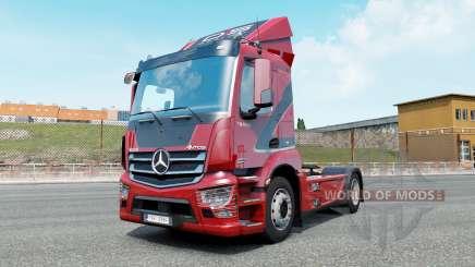 Mercedes-Benz Antos venetian red para Euro Truck Simulator 2
