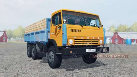 KamAZ-55102 color naranja brillante para Farming Simulator 2013