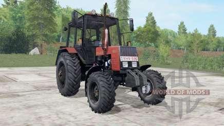 MTZ-892.2 Belarús es moderadamente color rojo para Farming Simulator 2017