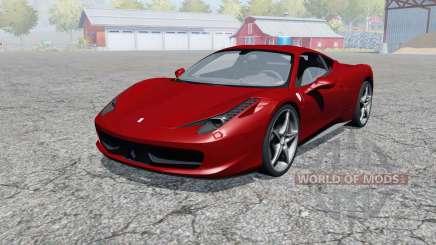 Ferrari 458 Italia 2009 para Farming Simulator 2013