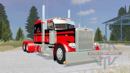 Peterbilt 379 Flat Top red para Farming Simulator 2015
