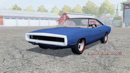 Dodge Charger RT (XS29) 1969 klein blue para Farming Simulator 2013