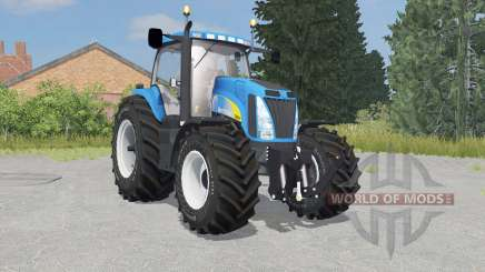 New Holland T8020 process cyan para Farming Simulator 2015