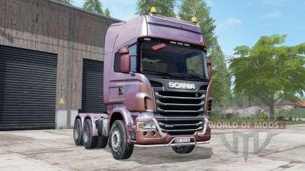 Scania R730 Topline redwood para Farming Simulator 2017