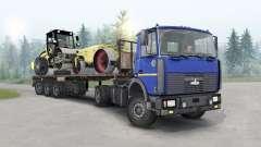 MAZ-5434 de color azul oscuro para Spin Tires