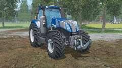 New Holland T8.320  lowering tire pressure para Farming Simulator 2015