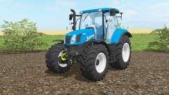 New Holland T6.160 vivid cerulean para Farming Simulator 2017