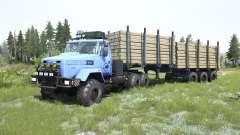 KrAZ-6322 luz de color azul para MudRunner