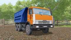 KamAZ 55111 color naranja brillante para Farming Simulator 2017