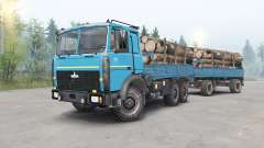 MAZ-6317 color azul para Spin Tires