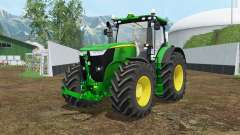 John Deere 7310R vivid malachite para Farming Simulator 2015