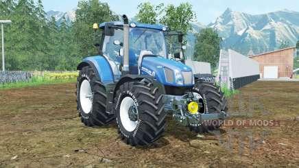 New Holland T6.160 spanish sky blue para Farming Simulator 2015