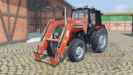 MTZ-820.2 Belarús con cargador para Farming Simulator 2013