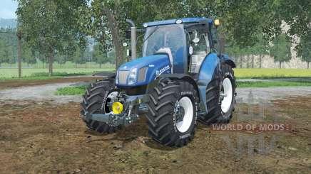 New Holland T6.160 lowering tire pressure para Farming Simulator 2015