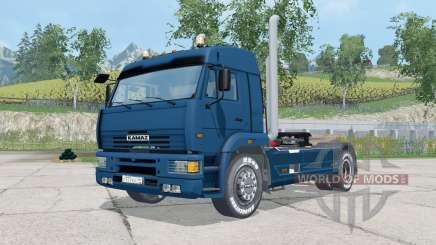 KamAZ-5460 color azul oscuro para Farming Simulator 2015
